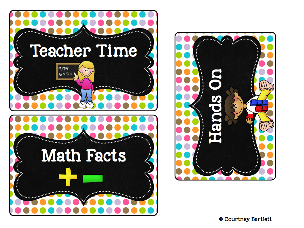 http://www.teacherspayteachers.com/Product/Math-Rotations-board-1270228