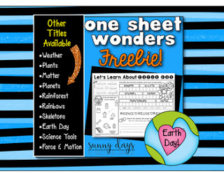 https://www.teacherspayteachers.com/Product/FREE-Earth-Day-One-Sheet-Wonder-2510033