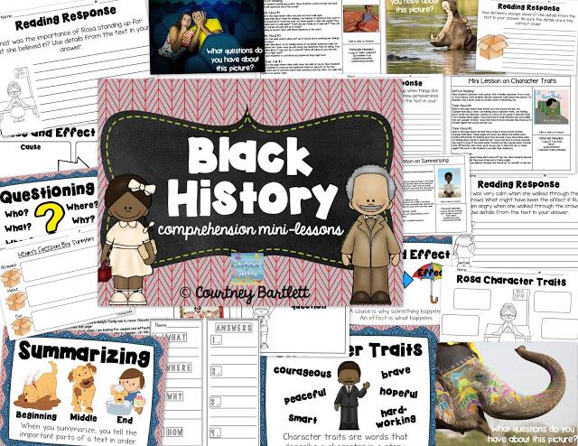 https://www.teacherspayteachers.com/Product/Black-History-comprehension-mini-lessons-1722346